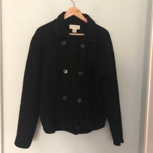 Oversized Vintage Boiled Wool Cardigan/Jacket